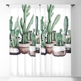 Cactus + Succulents Rose Gold Pattern by Nature Magick Blackout Curtain