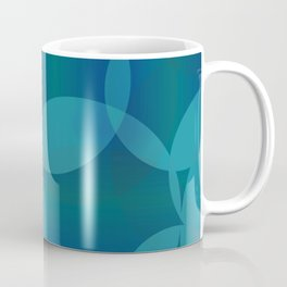 Abstract soap of blue molecules and bubbles on a water background. Coffee Mug
