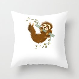 Just a Girl who Loves Sloths Adorable Throw Pillow