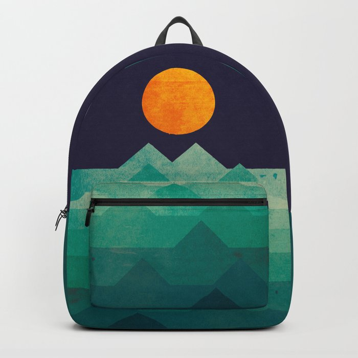The ocean, the sea, the wave - night scene Backpack
