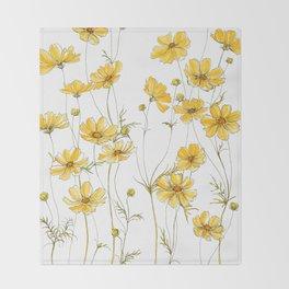 Yellow Cosmos Flowers Decke