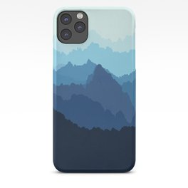Mountains in Blue Fog iPhone Case