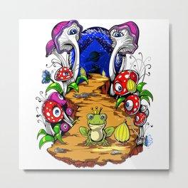 Psychedelic Magic Mushrooms Festival Trip Metal Print
