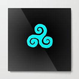 Triskelion; Everything's Connected- Designed by: Avi Isaac Metal Print
