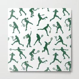 Jade Tennis PLayers Metal Print