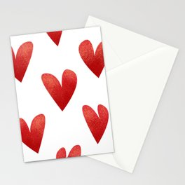 Heart Pattern Stationery Cards