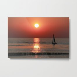 Sailing in Sunset Metal Print