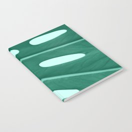 Minimal Monstera Leaf Notebook