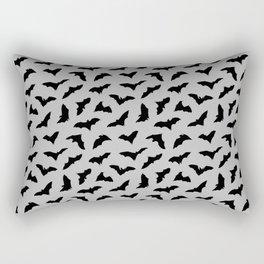 Bats on Grey // Halloween Collection Rectangular Pillow