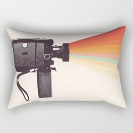 Movie Camera Rainbow Rectangular Pillow