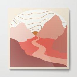 Red River Runs Through It Metal Print