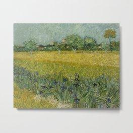 Vincent van Gogh - Flowers Near Arles Metal Print