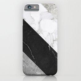 Contemporary Marble Stone Rays iPhone Case