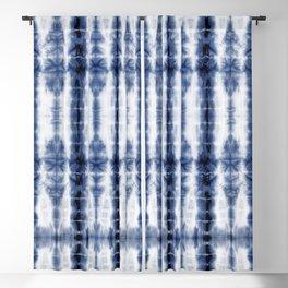 Tiki Shibori Blue Blackout Curtain