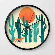 Desert fox Wall Clock