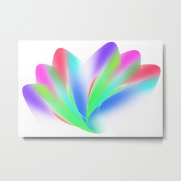 Fanned (on White) Metal Print