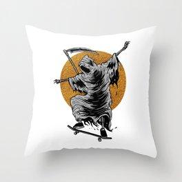Reaper Skater  Throw Pillow