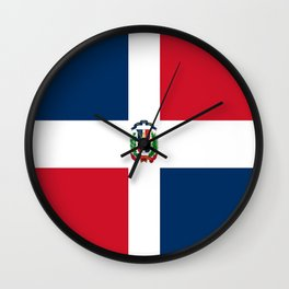 Flag of the dominican republic Wall Clock