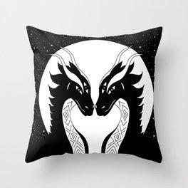All eyes on you - dragon twins Throw Pillow