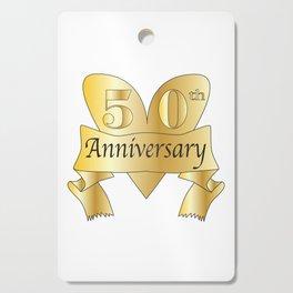 50th Anniversary Heart Cutting Board