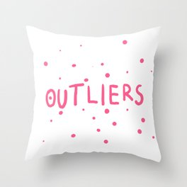 Outliers Throw Pillow