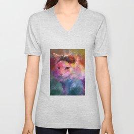 Kitty Splashcolor Unisex V-Neck