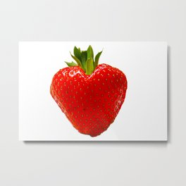 strawberry heart Metal Print