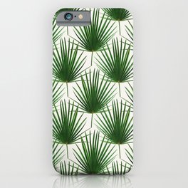 Simple Palm Leaf Geometry iPhone Case