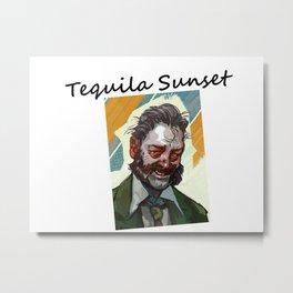 Disco Elysium Tequila Sunset Metal Print