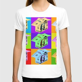 Poster with dollars house in pop art style T-shirt
