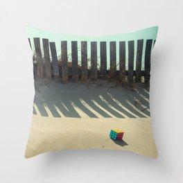 Rubik shading in the beach Throw Pillow