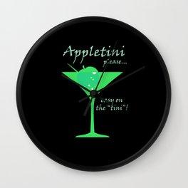 Appletini Wall Clock