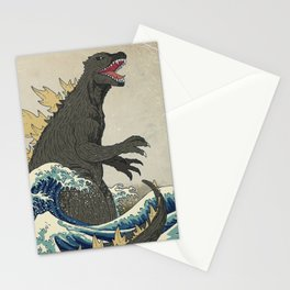 The Great Godzilla off Kanagawa Stationery Cards