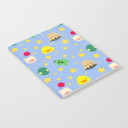 final fantasy pattern blue Notebook