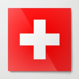 Switzerland flag Metal Print