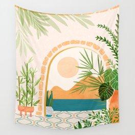 Baja California Villa / Villa Series Wall Tapestry