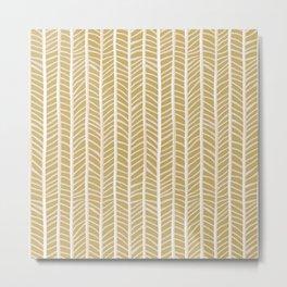 Herringbone Style Metal Print