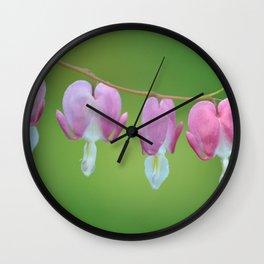 Bleeding Hearts Wall Clock