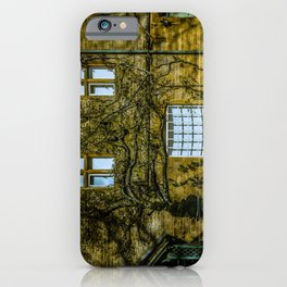 Windows on a Cotswold Square House with Vine and Shadow England iPhone Case
