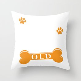 553 Dog Years Old Funny 79th Birthday Puppy Lover graphic Throw Pillow