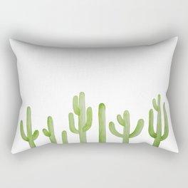 Cactus Row Watercolor Saguaro Rectangular Pillow