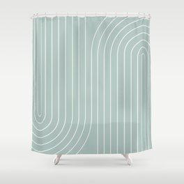 Minimal Line Curvature - Sage Shower Curtain