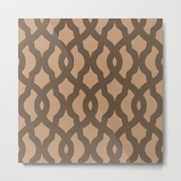 Grille No. 2 -- Brown Metal Print