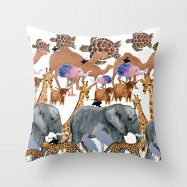The Zoo Throw Pillow