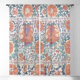 Shakhrisyabz Suzani Uzbekistan Antique Embroidery Print Sheer Curtain
