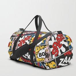 Modern Comic Book Superhero Pattern Color Colour Cartoon Lichtenstein Pop Art Duffle Bag