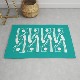 'The Con Artist' - Green Converse Pattern Rug