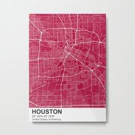 houston Texas city map color Metal Print