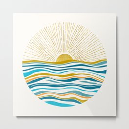 Sunrise At Sea Metal Print