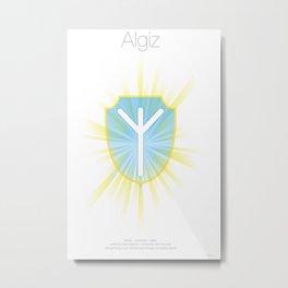 Runes Series - Algiz Metal Print